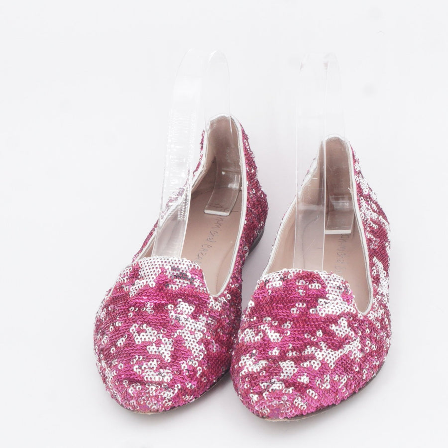 Pink Sequined Flats