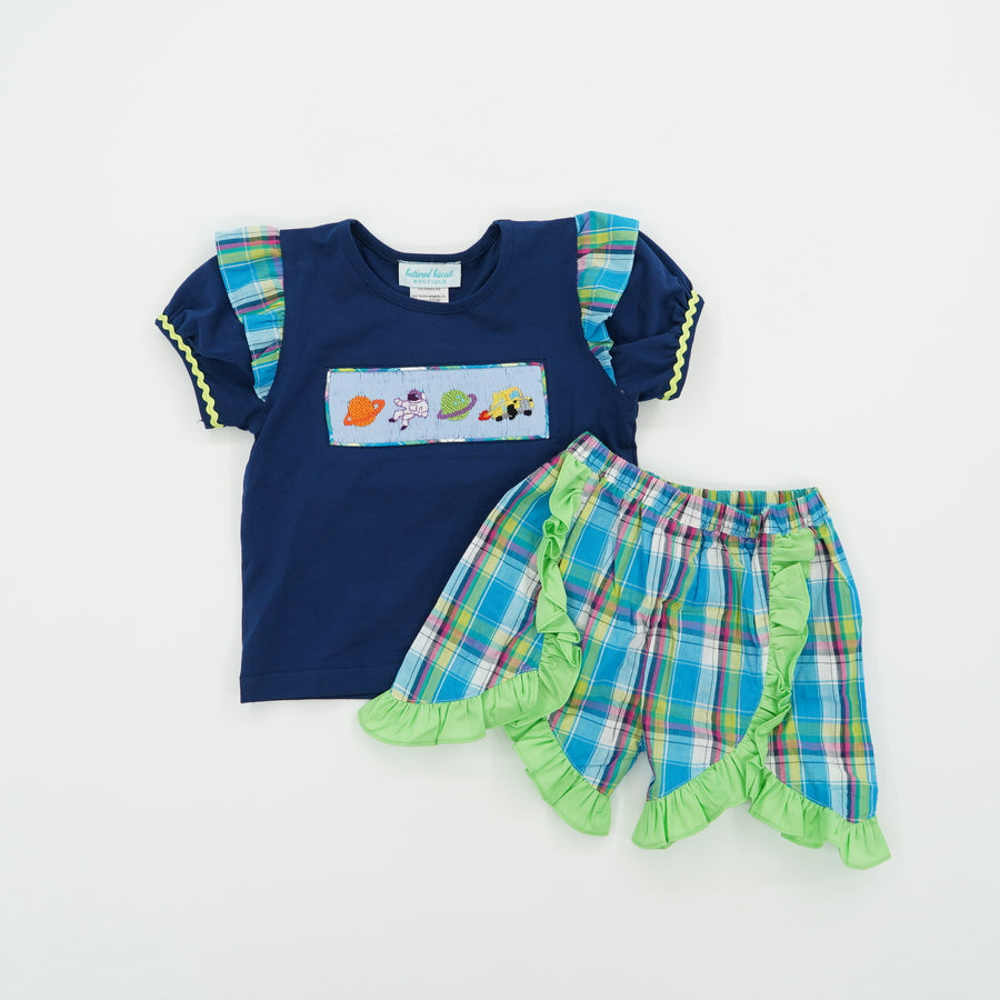 Smocked 2 Piece Short Set Size 2