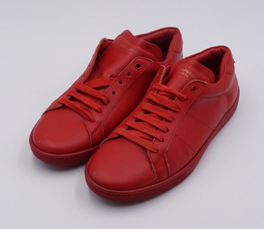 Red SL/01 Court Classic Low-Top Sneakers Size 41