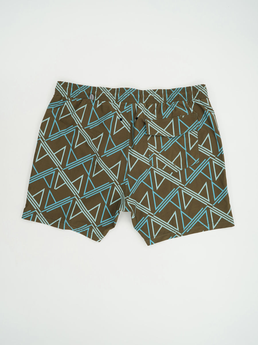 Elastic Waist Swim Trunks Size 2XLarge
