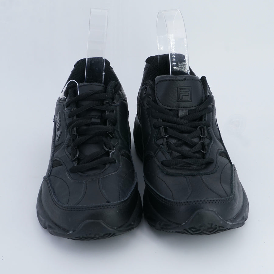 Black Leather Sneakers Size 7.5