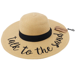 """Talk to The Sand"" Sun Hat Size OS"