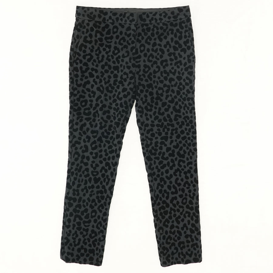 The Animal Print Seamed Pants - Size 2