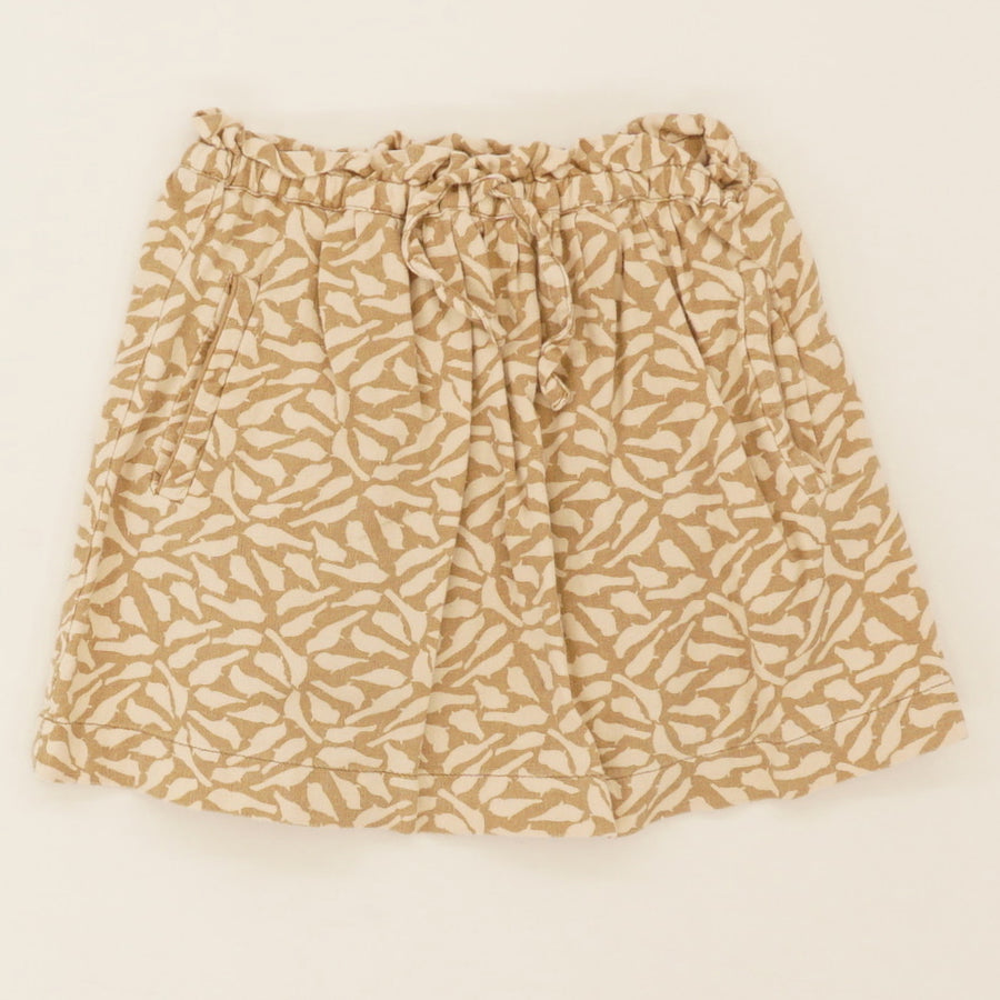 Brown Printed Skirt - Size S