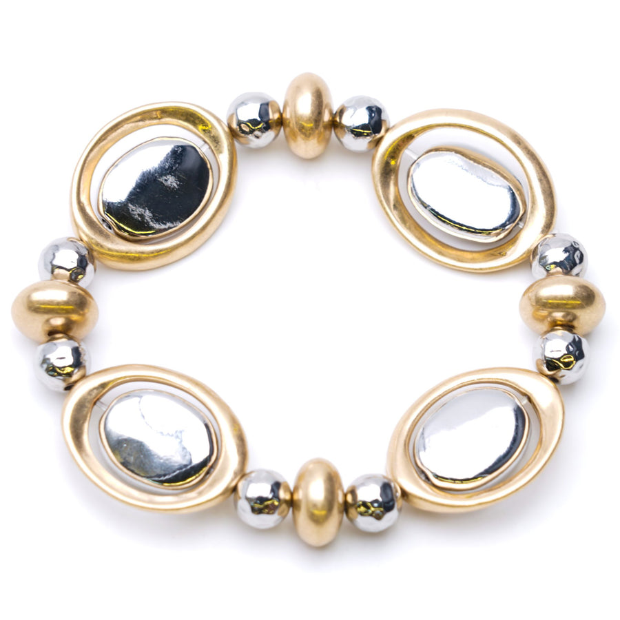 Gold Toned And Silver Toned Bracelet