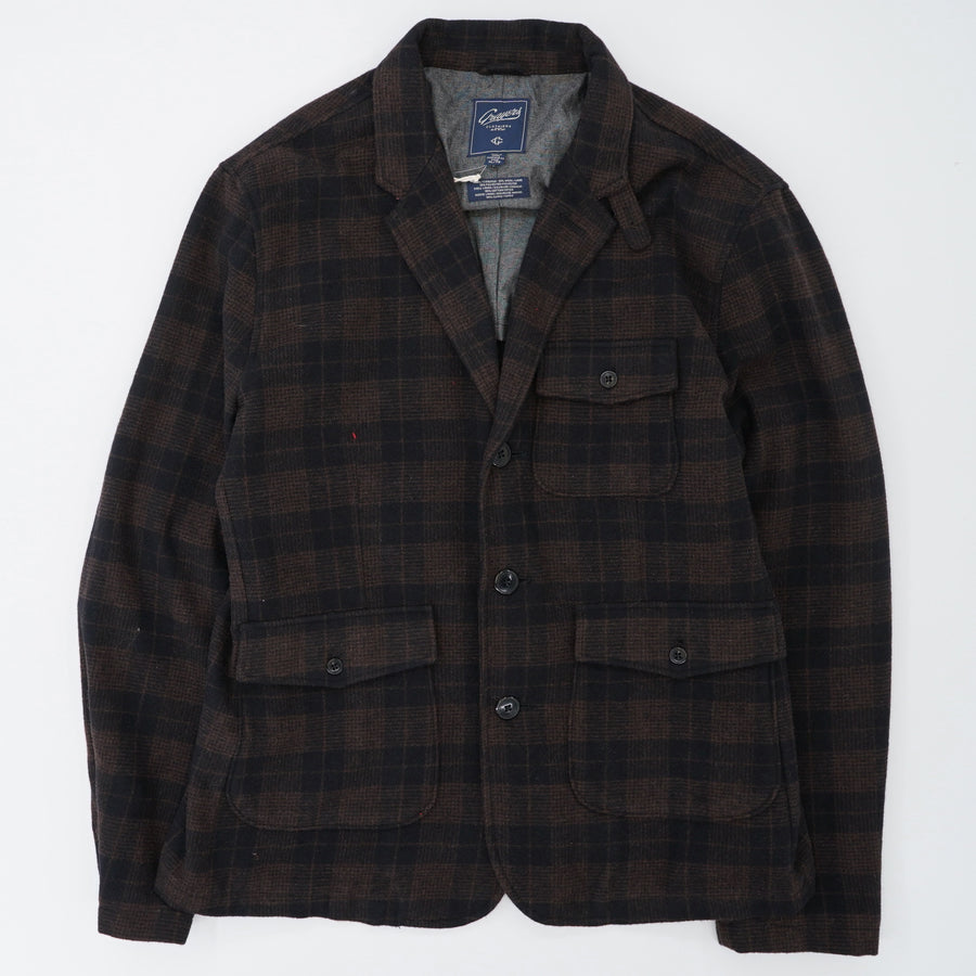 Black Coffee Plaid Coat Size XL