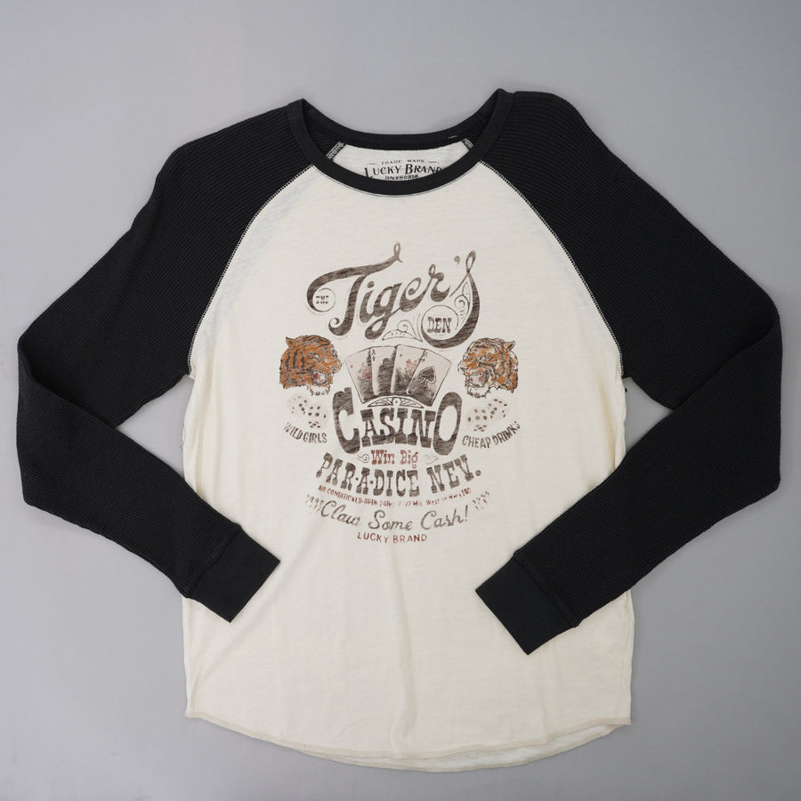 Tigers Casino Long Thermal Sleeve Shirt Size S
