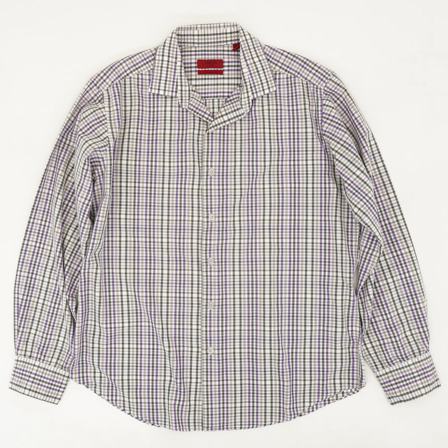 Fitted Long Sleeve Button Down - Size M