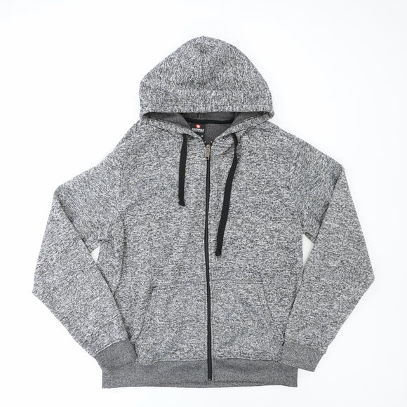 Heathered Zip Up Hoodie Size M