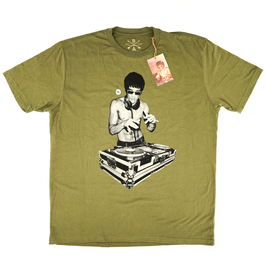 Bruce Lee Gung-Fu Scratch DJ T-Shirt