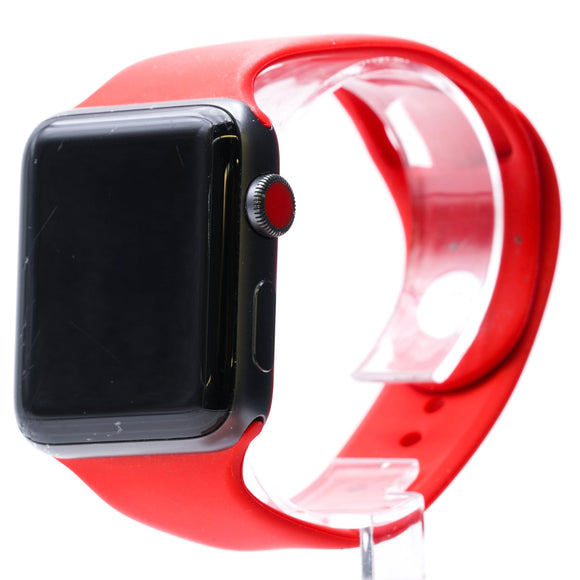 42MM Series 3 Smart Watch LTE + GPS Space Gray With Red Adjustable Band