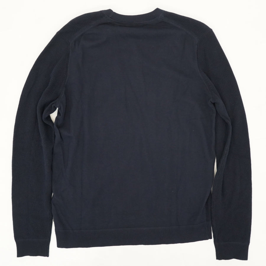 Knitted Stitch Detailed Crewneck Size 4
