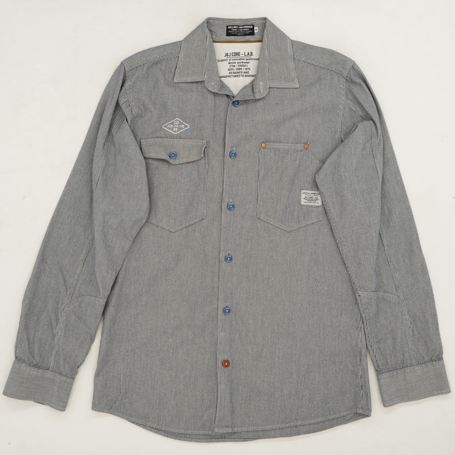 Denim Workwear Long Sleeve Button Down Shirt Size 8