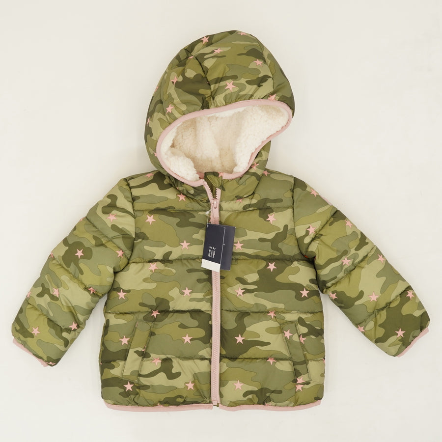 Camo Star Puffer Jacket Size 3