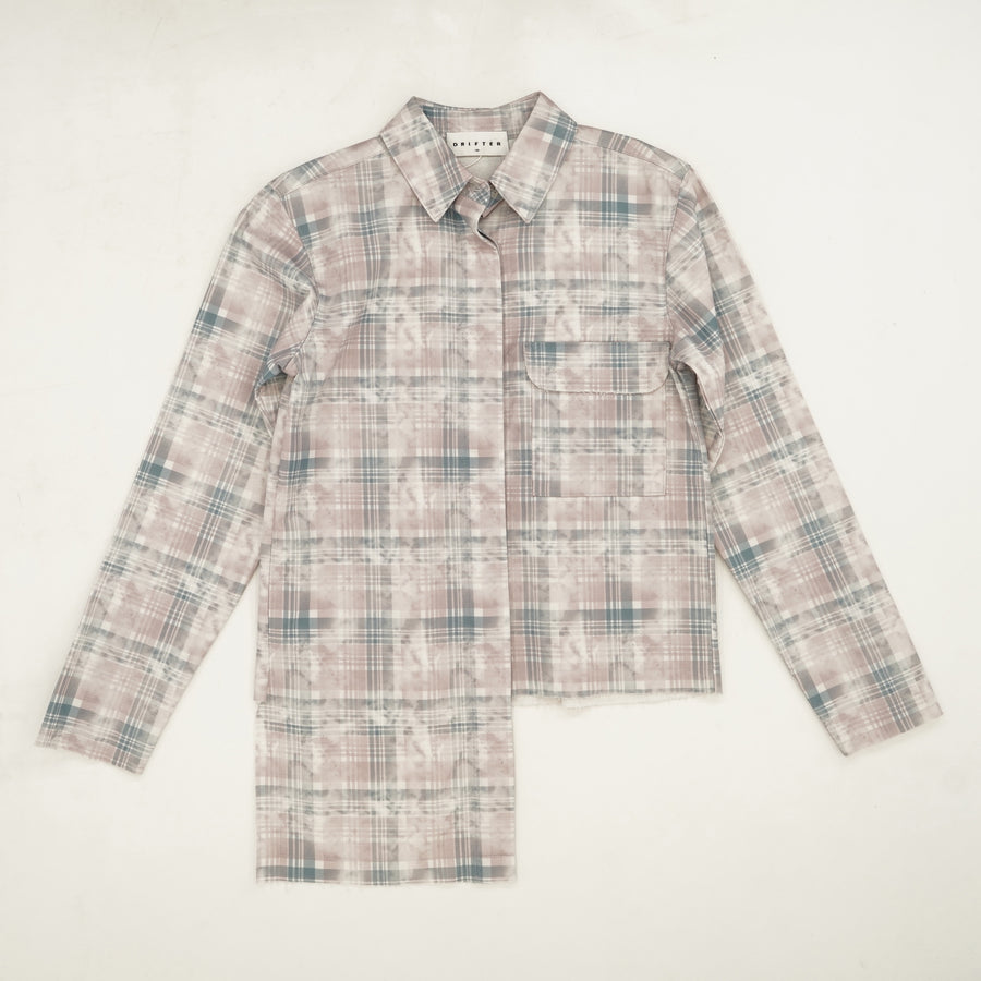 Frayed Edge Plaid Button Down Size XS