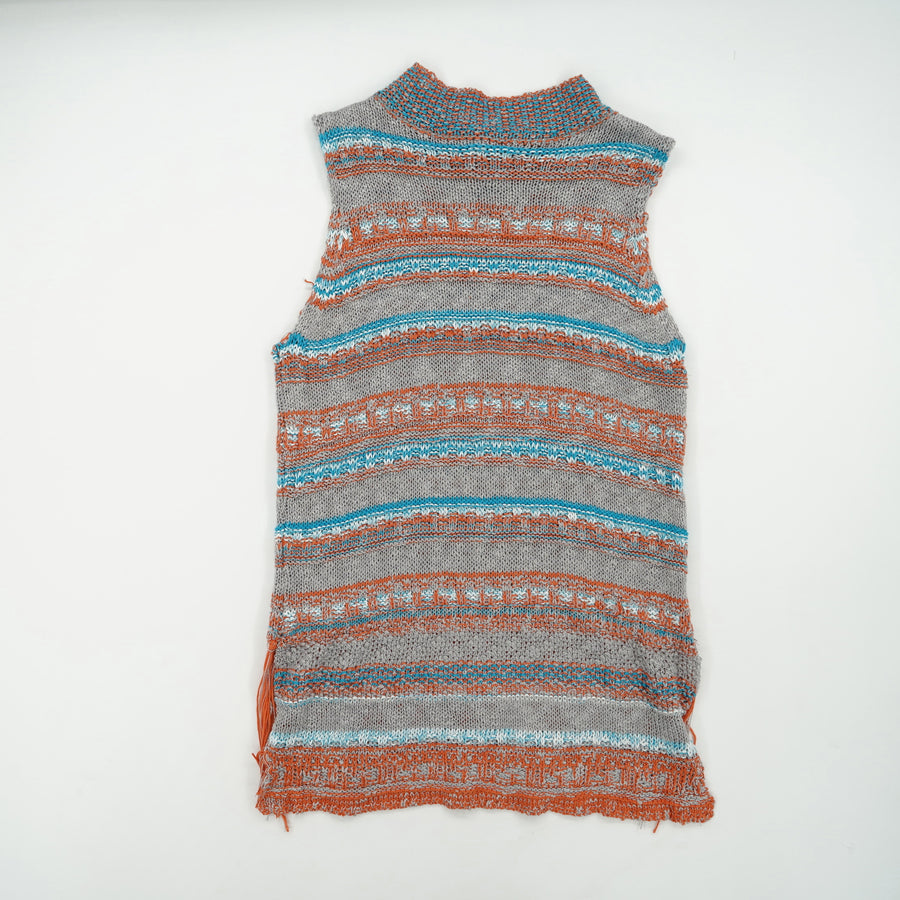 Sleeveless Striped Sweater Size S