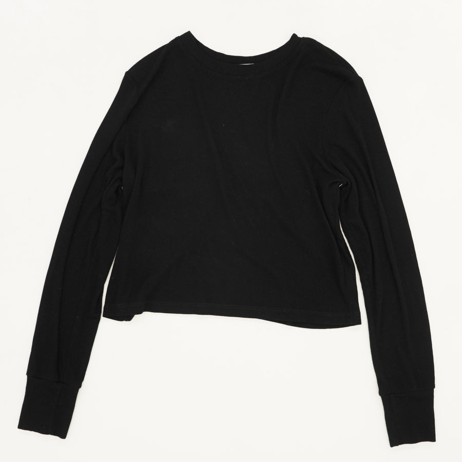 Long Sleeve Ribbed Top Size XS