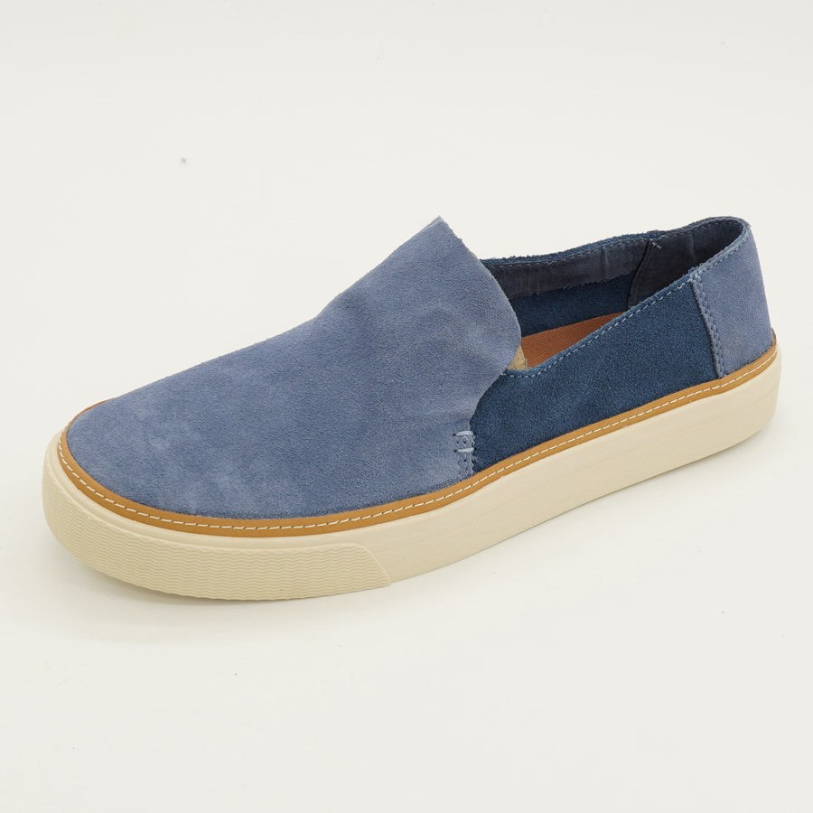 Sunset Infinity Blue Ocean Suede Slip On Flats