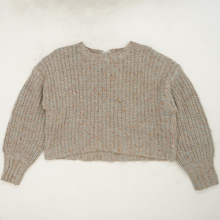 Cropped Tie Back Sweater - Size M