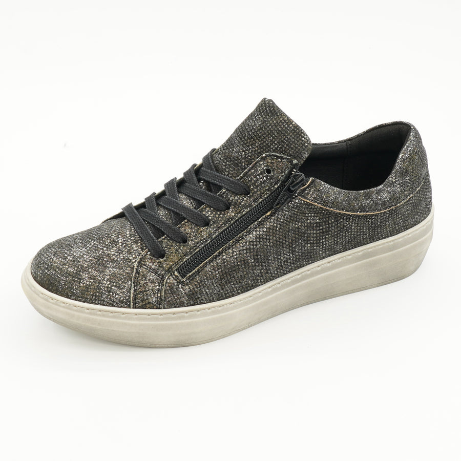 Quantas Zip Sneakers Grunge Black