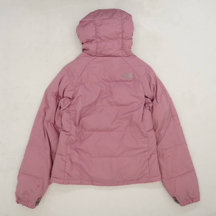Pink Hooded Down Coat Size XS
