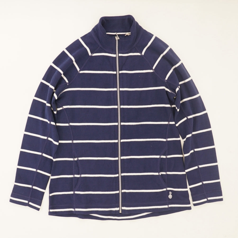 Ribbed Striped Jacket Size M