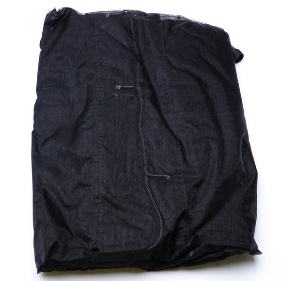 "Black 84"" Pre-Lit Rod-Pocket Curtain Panel"
