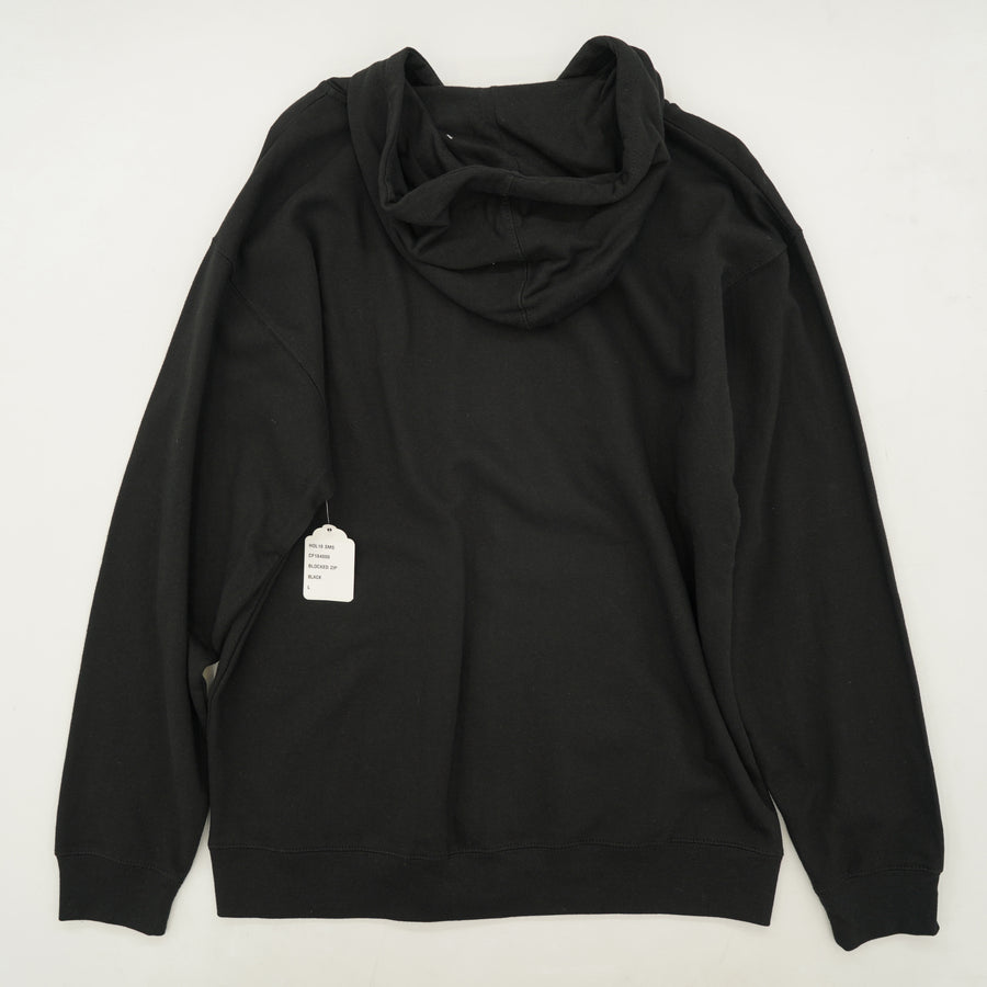 "Black ""Captain Fin CO"" Full Zip Hoodie Size L"