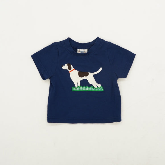 Embroidered Dog Tee Size 6M