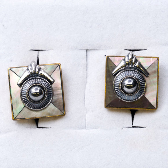 Art Deco Clip On Earrings