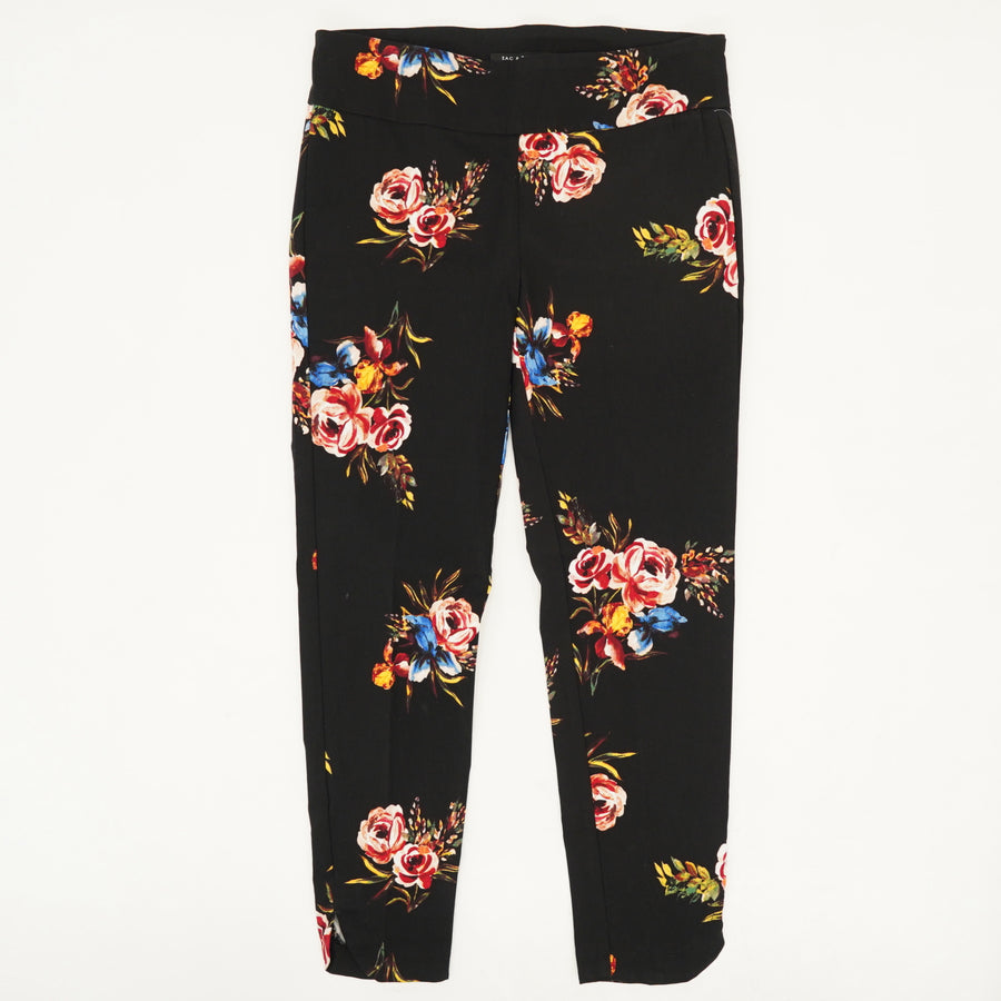Floral Pull-On Pants - Size 10