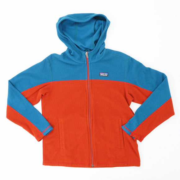 Teal And Red Full Zip Fleece Size 10
