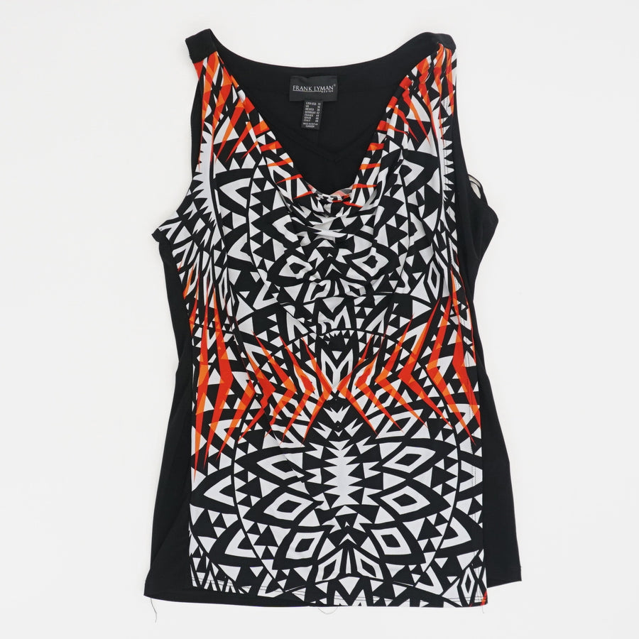 Black And White Aztec Tank Top - Size 14