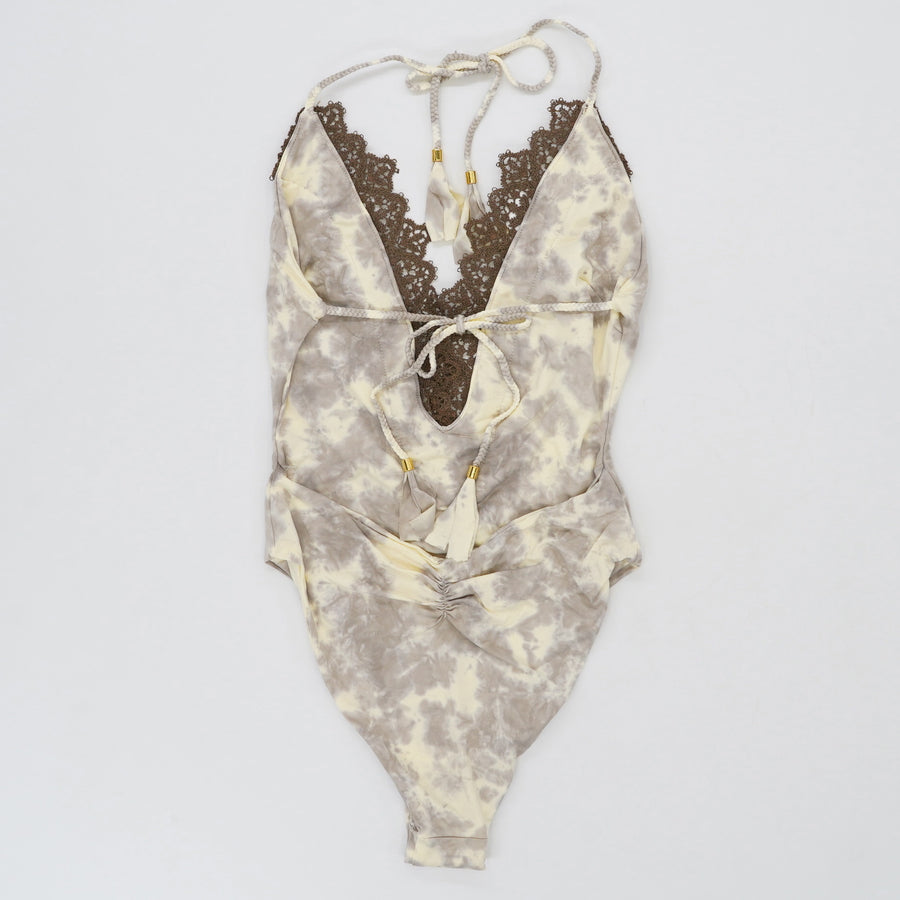 Forest Tie Dye Mirage Halter Swimsuit