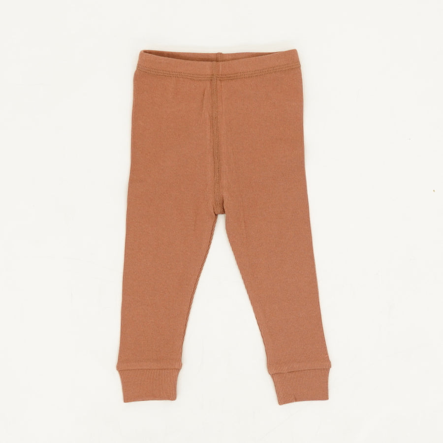 Tan Ribbed Leggings Size 12-18M