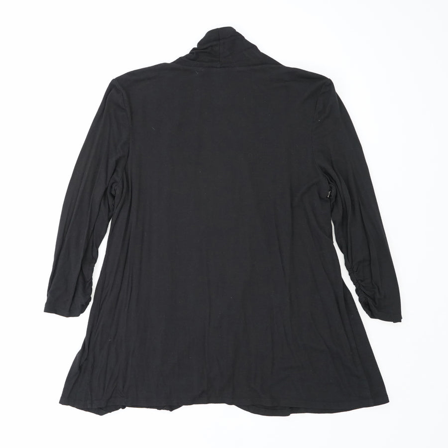 Black Solid Thin Cardigan Size M