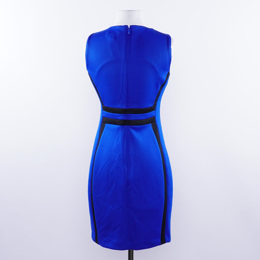Blue And Black Bodycon Dress - Size 6P