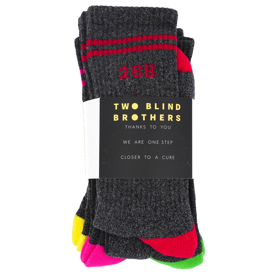 4-Pack Color Block Crew Socks- Size OS
