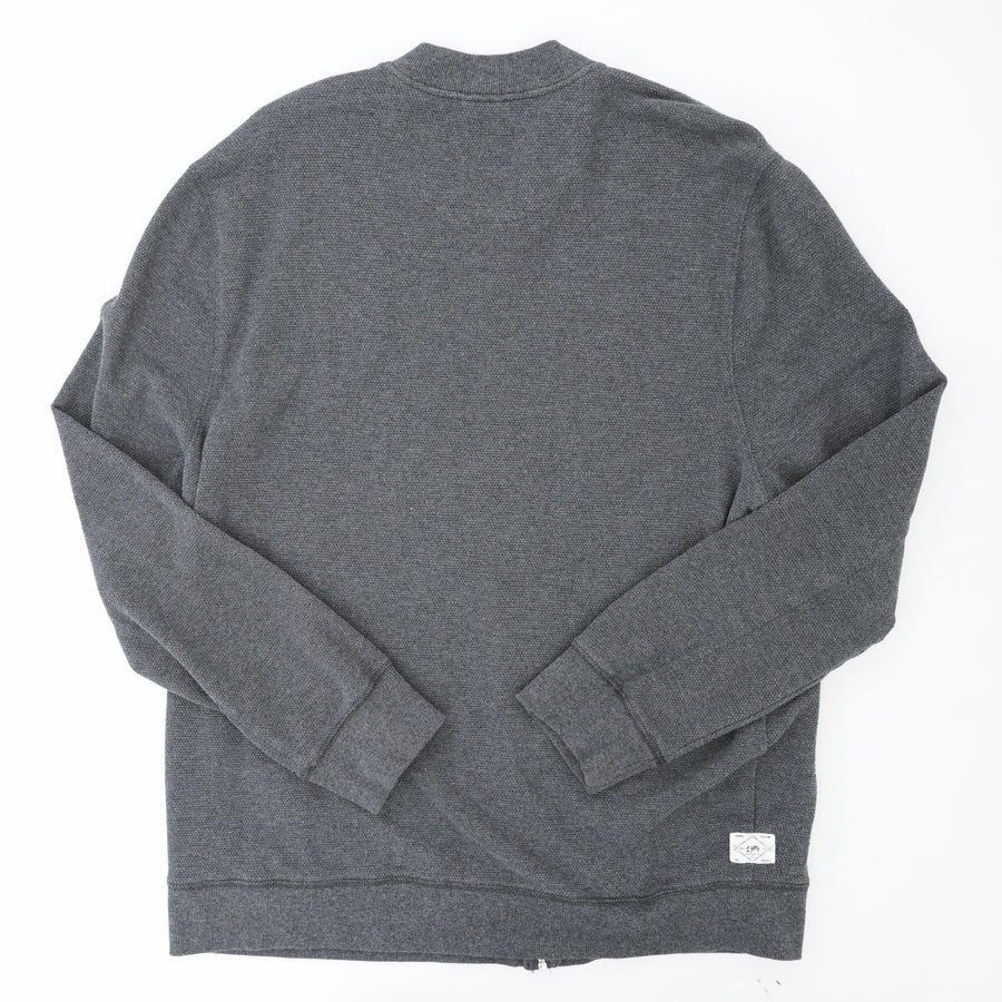 Grey Winter Zip Sweater Size L