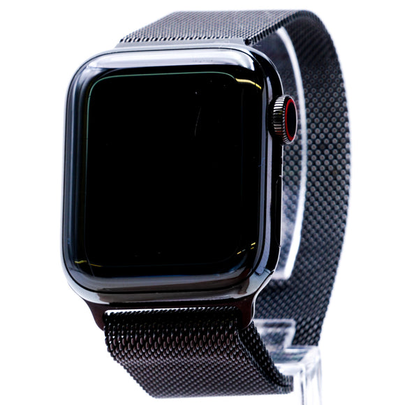 40MM Series 4 Apple Watch GPS + Cellular Space Black Stainless Steel with Black Band O/S