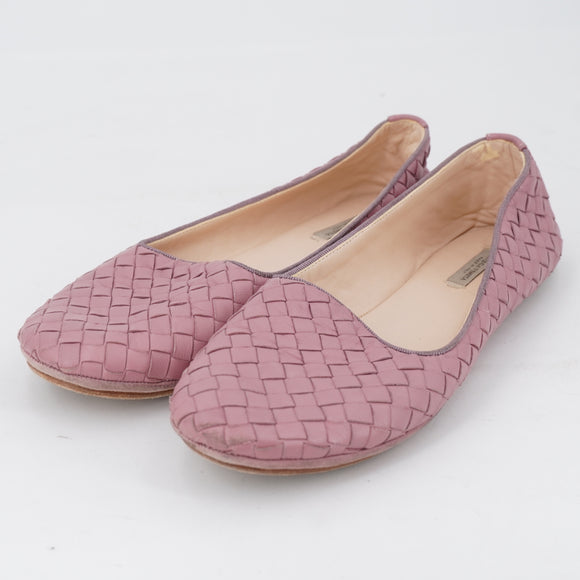 Intrecciato Leather Slippers Size 7