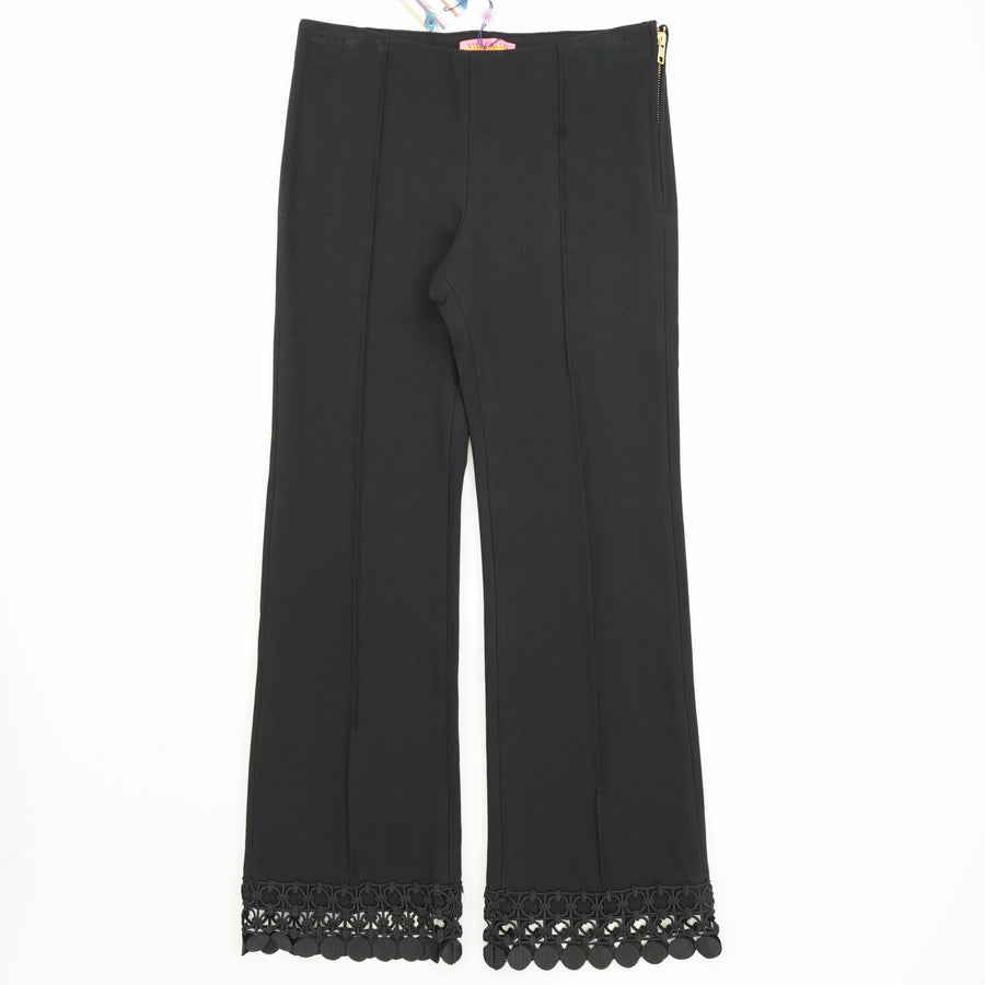 Julia Cropped Pant with Crochet Trim Size 40