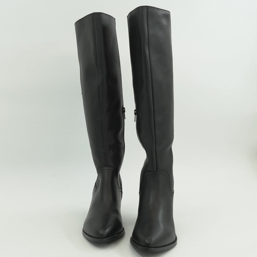 Orphie Leather Point-Toe Tall Boots Size 9