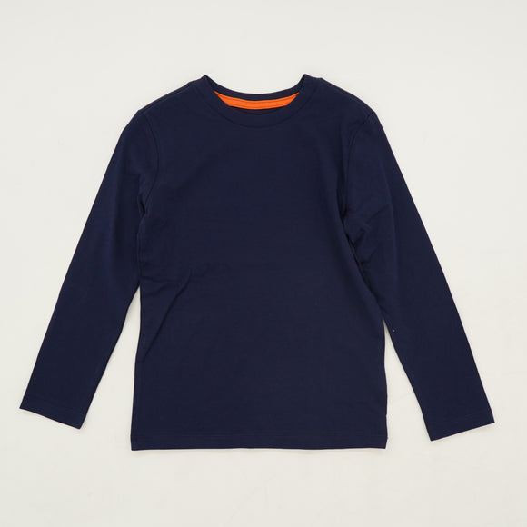 Navy Solid Long Sleeve Tee Size 4/5