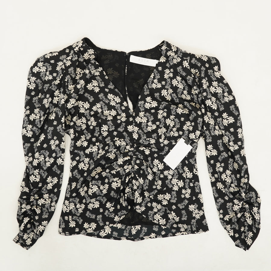 Shirred Floral Top - Size XS, S