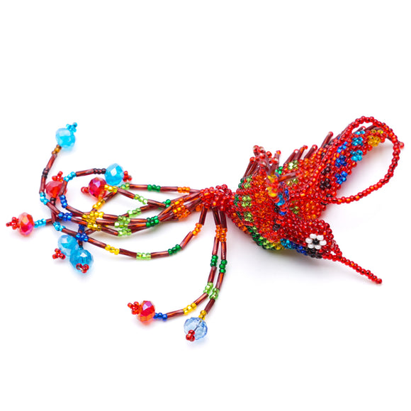 Hand Beaded Hummingbird Ornament