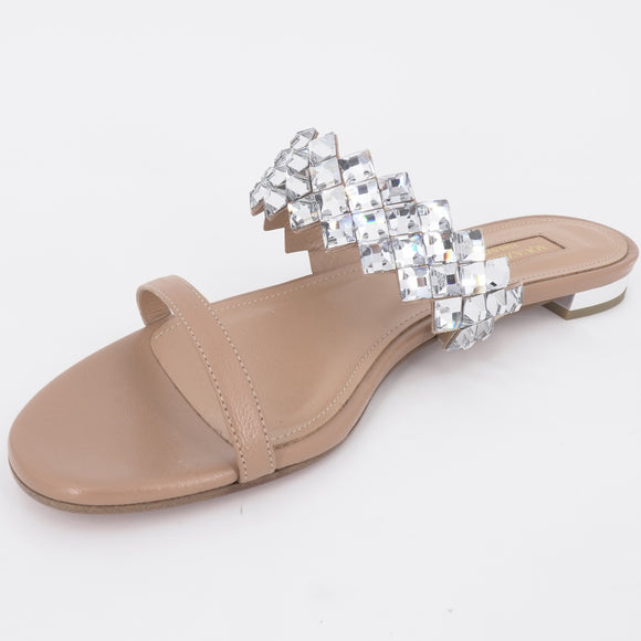 Talisman Embellished Leather Sandals Size 8