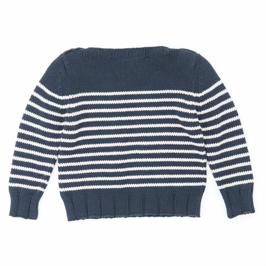 Navy And Gray Striped Sweater Size 4T
