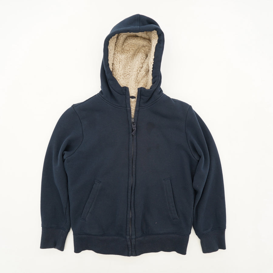 Lined Navy Full-Zip Hooded Jacket Size 9-10