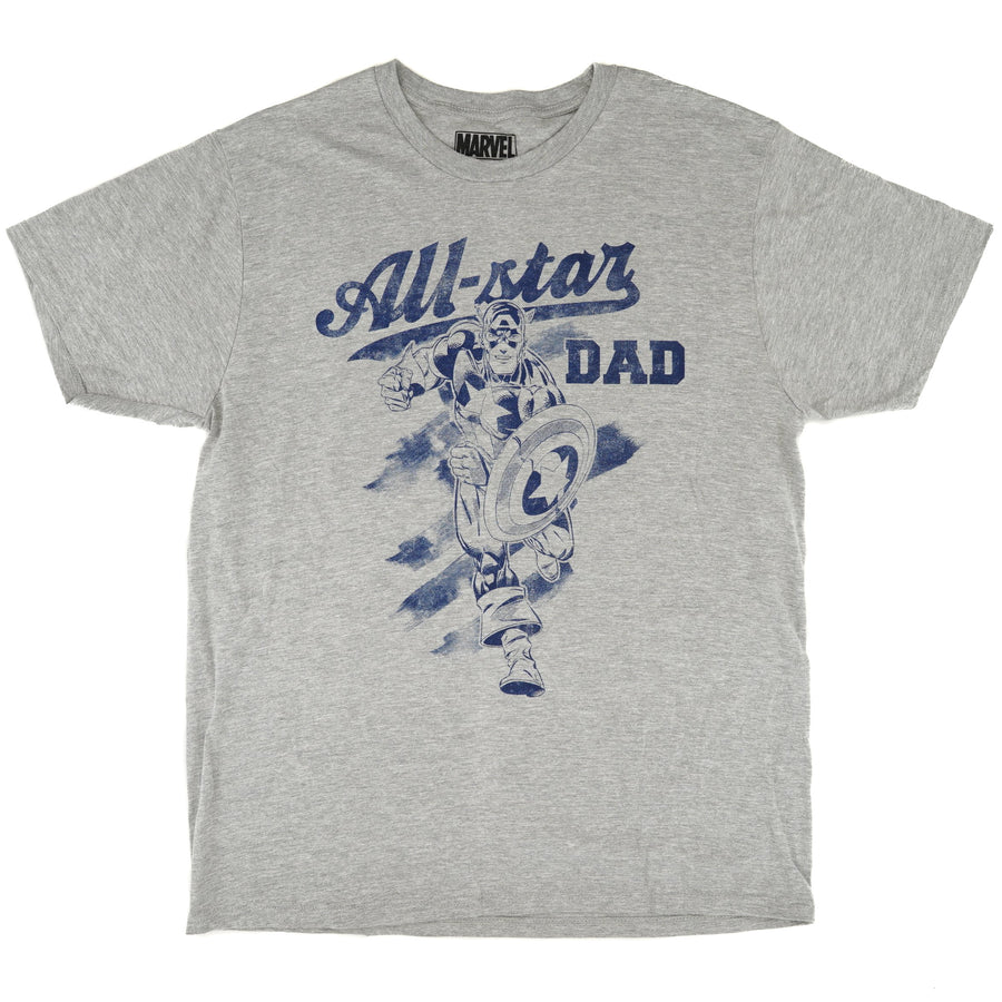 """All-Star Dad""Captain America Graphic Tee - Size L, XL, 2XL"